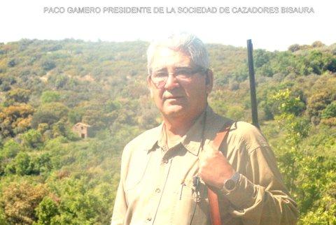 Paco Gamero, presidente de la Sociedad de Cazadores Bisaura