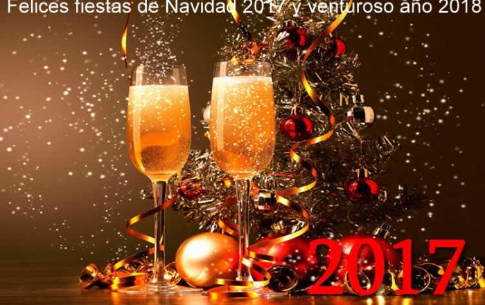 ¡¡¡ FELICES FIESTAS NAVIDEÑAS Y VENTUROSO AÑO 2018!!!